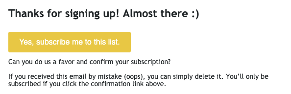Subscription Confirmation Email Best Practices_Be Concise