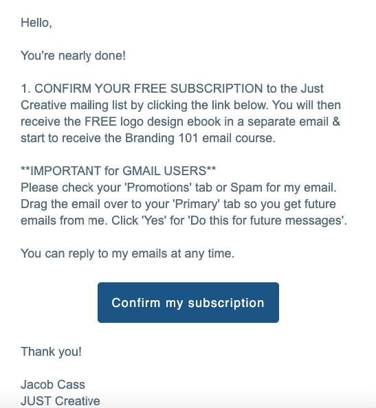 Subscription Confirmation Email Best Practices_Let users know what to expect from you