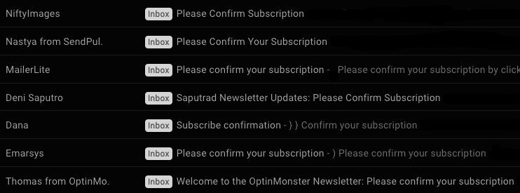 Subscription Confirmation Email Subject Lines