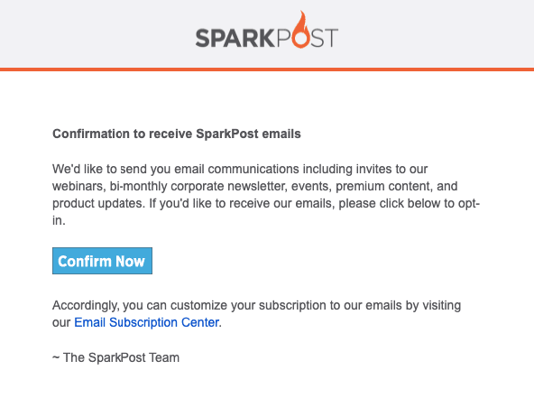 Subscription Confirmation Email_Double Opt-in