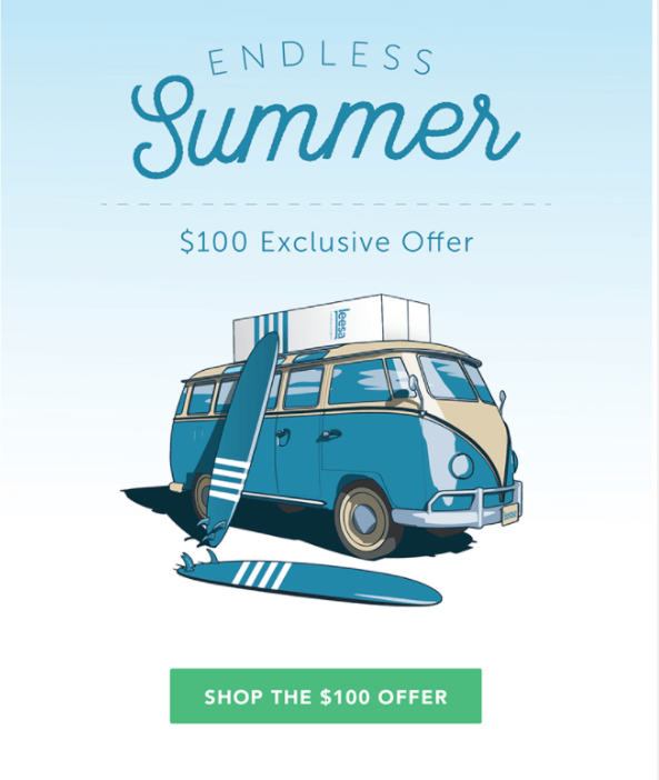 Summer Email Examples