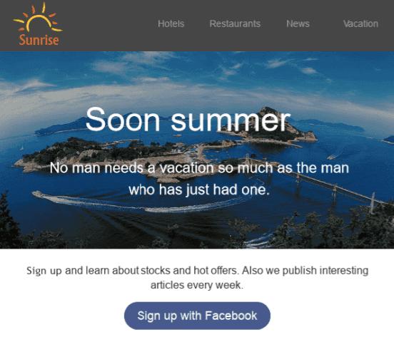 Summer Email Examples_Social Media
