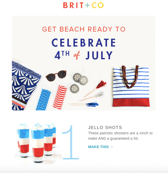 Summer Email Examples_Using Bright Color