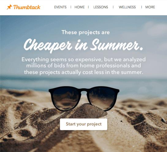 Summer Emails Design Ideas