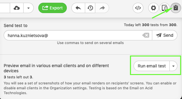 Test an Email Template_Previwing Your Email