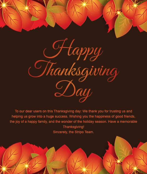 Thanksgiving Day Email Template