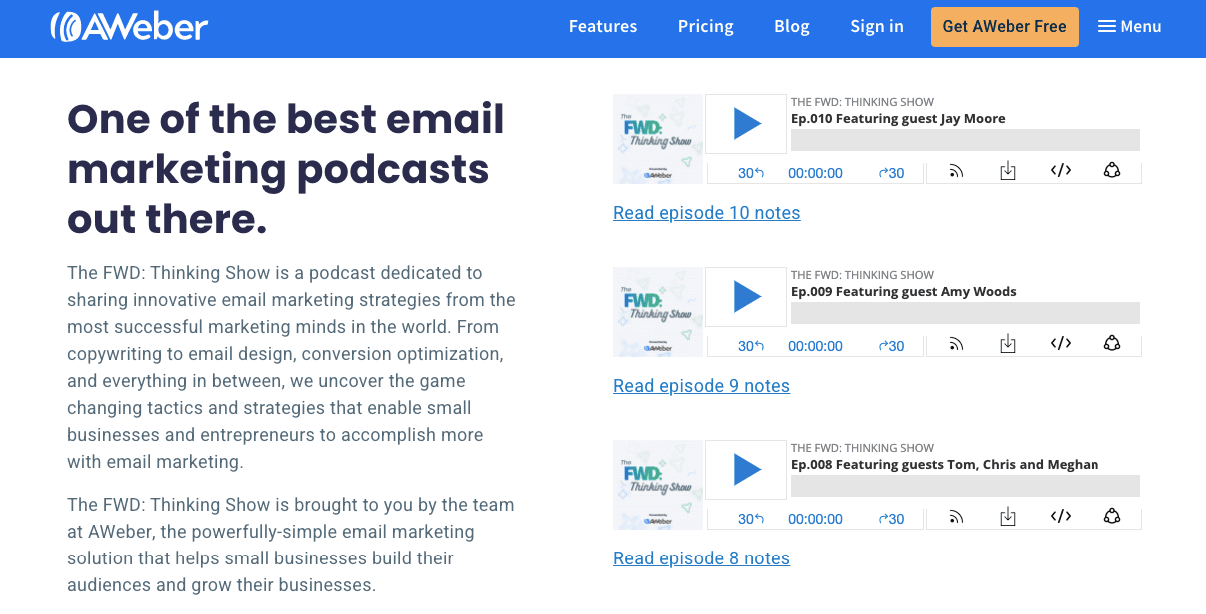 Top Email Marketing Podcasts_AWeber