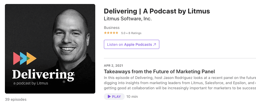 Top Podcasts on Email Marketing_Litmus