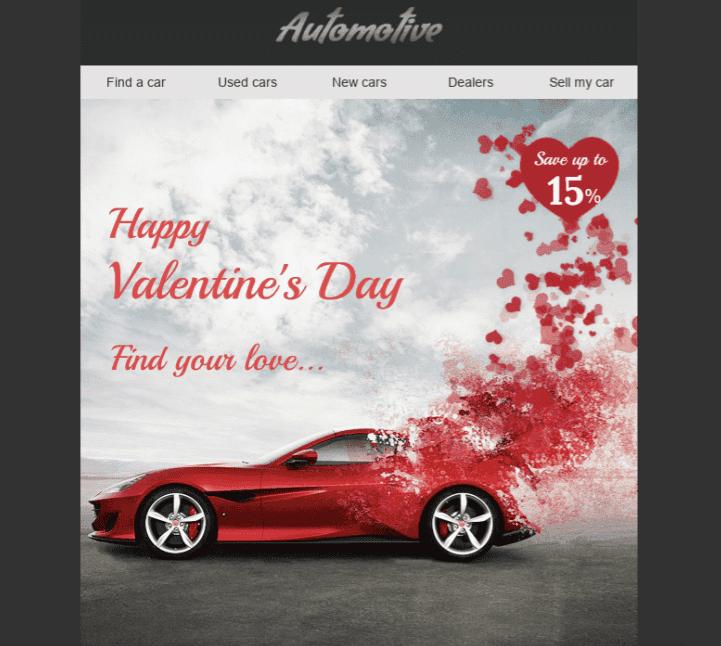 Электронные письма с сердечками в день Святого Валентина