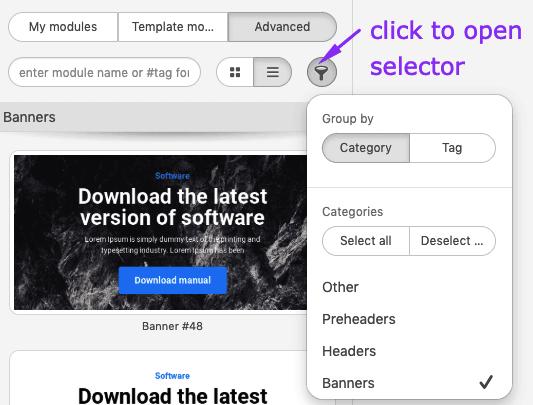 Using Selector