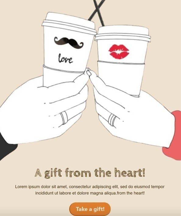 День Святого Валентина-Електронна пошта-Шаблони_Stripo