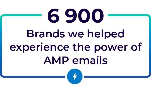 We helped thousands of brands experience the power of amp