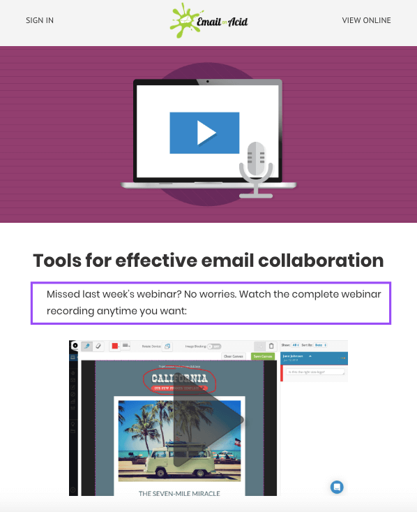 Webinar Email_Sending The Recording to Users