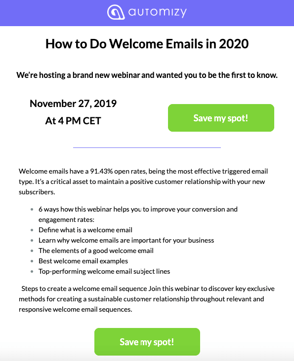 Webinar Invitation Example_Duplicated CTA Button