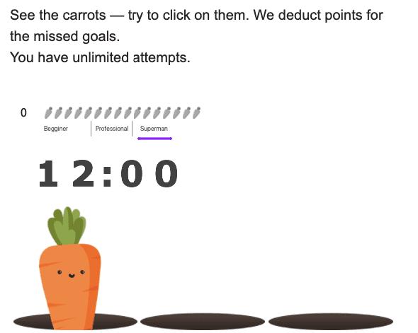 cenouras com um sistema de feedback completo