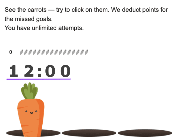 carrots with timer