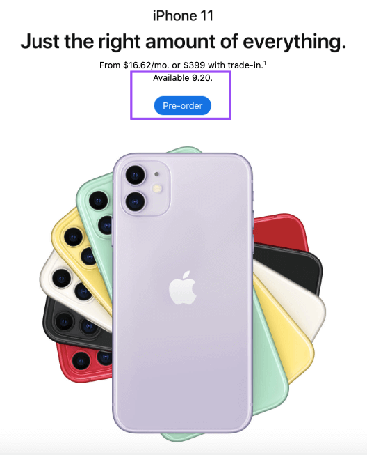 iPhone 11_The Pre-Order Option