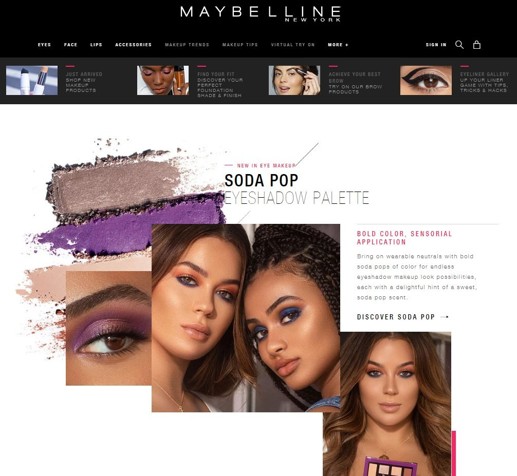Stripo-Email-Etiquette-Maybelline-Website