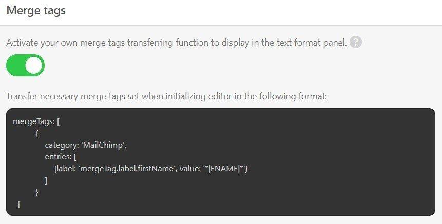 Stripo-Plugin-Merge-Tags-Configuration
