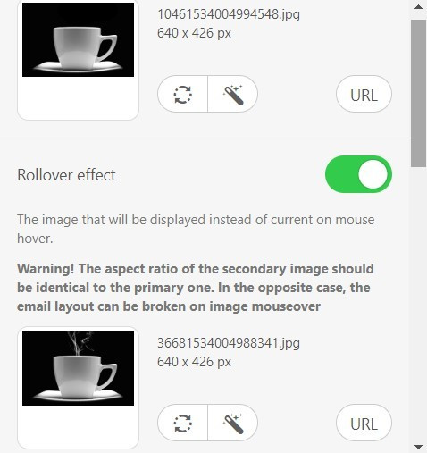 Enabling Image Rollover Effect for Emails
