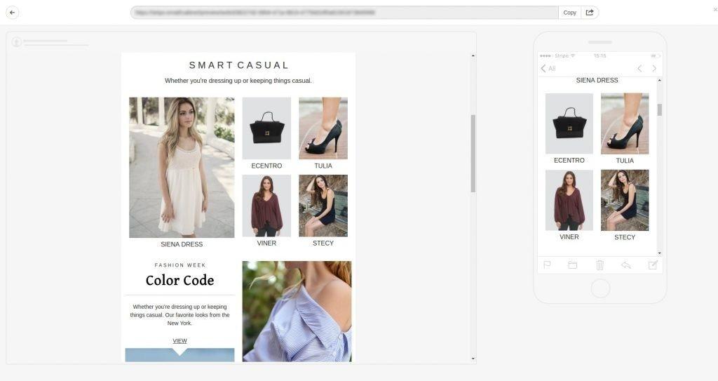 responsive email design, mobile preview, media queries utilization