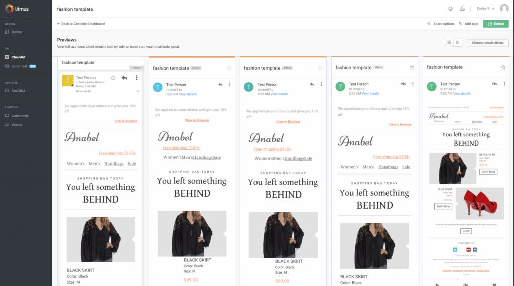 responsive email design, mobile test
