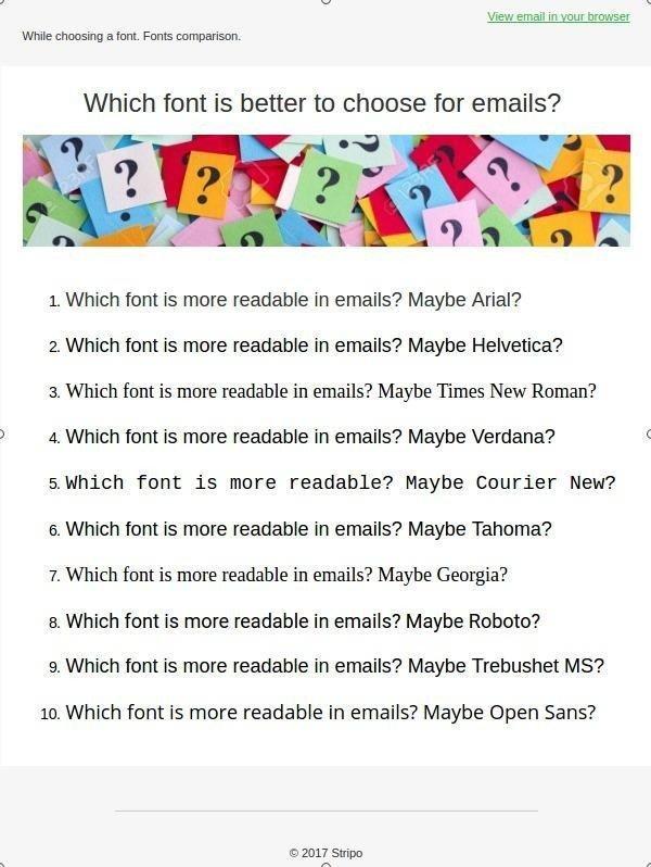 the best font for email, web safe fonts comparison