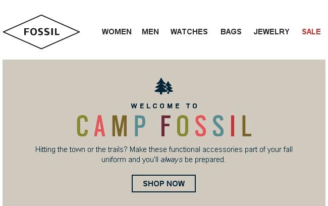 the best email design practices, menu on header